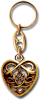 Keychain CELTIC HEART Gold-Optik