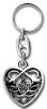 Keychain CELTIC HEART Silber-Optik