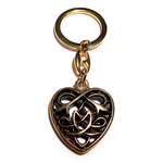 Keychain CELTIC HEART 24ct