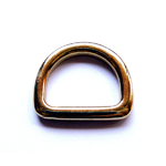 Solid D-RING-25 24ct