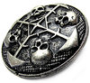 CIRCLE OF SKULLS ZN 925 AS